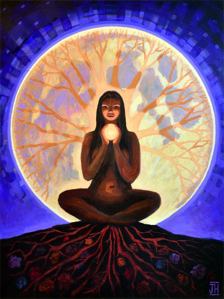 Shanti Luna, by artist Jenny Hahn